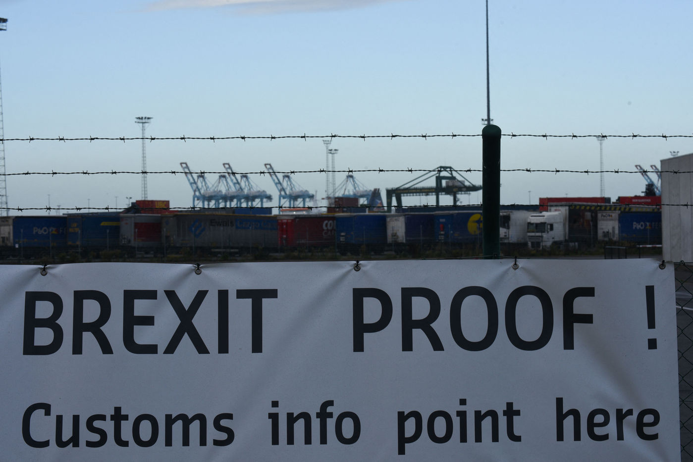 Zeebrugge port gets ready for Brexit